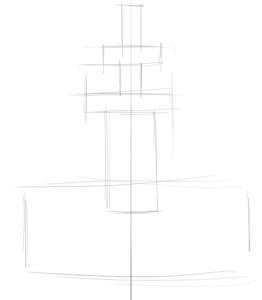Как-нарисовать-фонтан-карандашом-поэтапно-1