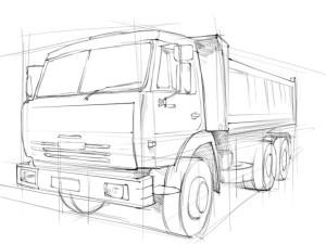 Как-нарисовать-грузовик-карандашом-поэтапно-3