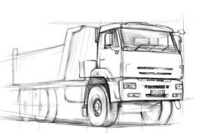 Как-нарисовать-камаз-карандашом-поэтапно-3