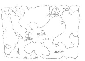 Как-нарисовать-карту-сокровищ-карандашом-поэтапно-3