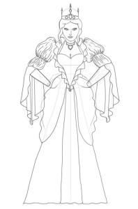 Как-нарисовать-королеву-карандашом-поэтапно-5