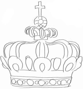 Как-нарисовать-корону-карандашом-поэтапно-3
