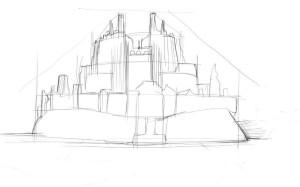 Как-нарисовать-крепость-карандашом-поэтапно-3
