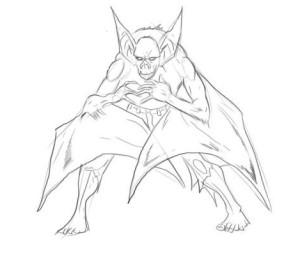 Как-нарисовать-летучую-мышь-карандашом-поэтапно-4