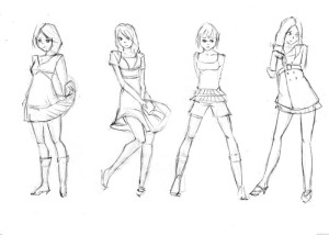 Как-нарисовать-одежду-карандашом-поэтапно-4