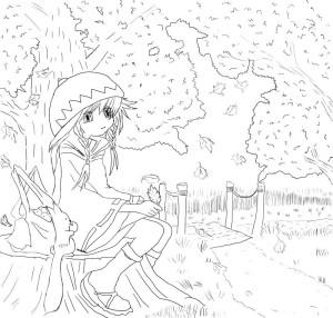 Как-нарисовать-осень-карандашом-поэтапно-5