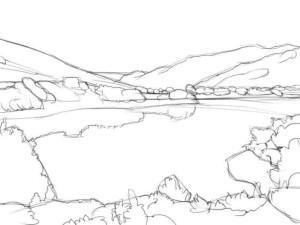 Как-нарисовать-озеро-карандашом-поэтапно-3