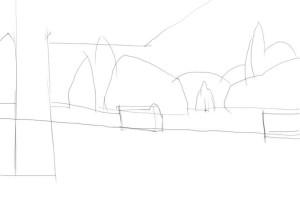 Как-нарисовать-парк-карандашом-поэтапно-1