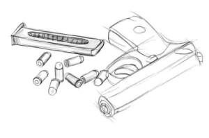 Как-нарисовать-пистолет-карандашом-поэтапно.-4