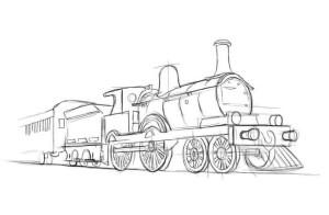 Как-нарисовать-поезд-карандашом-поэтапно-3