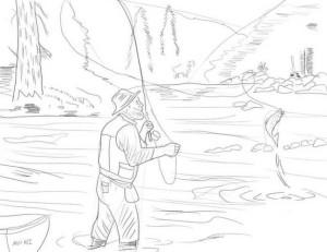 Как-нарисовать-рыбака-карандашом-4