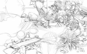 Как-нарисовать-сад-карандашом-поэтапно-4