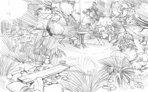 Как-нарисовать-сад-карандашом-поэтапно-5