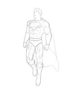 Как-нарисовать-супермена-карандашом-поэтапно-4