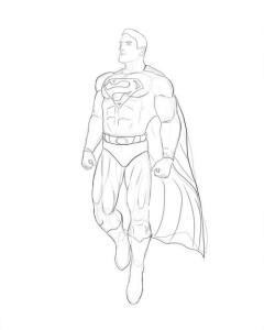 Как-нарисовать-супермена-карандашом-поэтапно-5