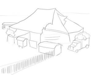 Как-нарисовать-цирк-карандашом-поэтапно-2