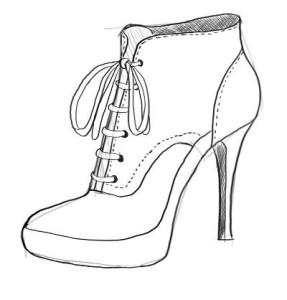 Как-нарисовать-туфли-карандашом-поэтапно-4