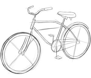 Как-нарисовать-велосипед-карандашом-поэтапно-3