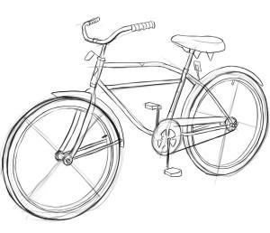 Как-нарисовать-велосипед-карандашом-поэтапно-4