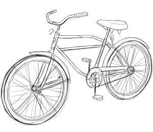Как-нарисовать-велосипед-карандашом-поэтапно-5