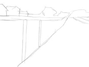 Как-нарисовать-забор-карандашом-поэтапно-1