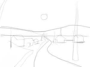 Как-нарисовать-зиму-карандашом-поэтапно-2