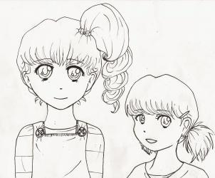 Как нарисовать простой девушки