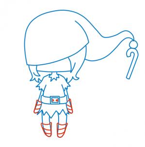 Как нарисовать Чиби Рождественский Эльф