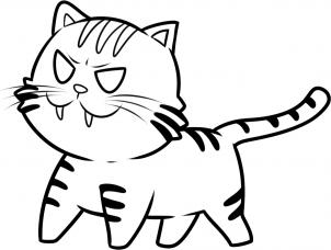 Как нарисовать карманный Тигр из Toradora