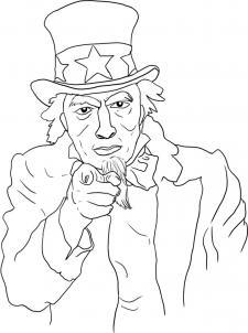 нарисованный дядя Сэм