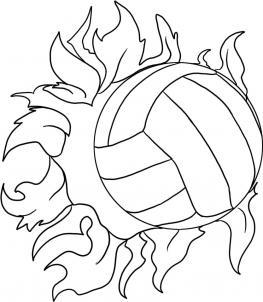 нарисованный волейбол