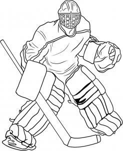 нарисованный хоккейный вратарь