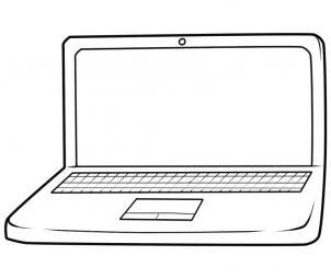 нарисованный ноутбук