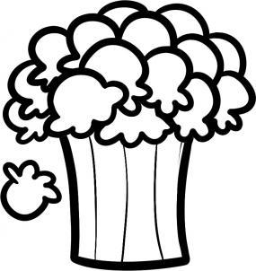 нарисованный попкорн