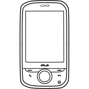 нарисованный смартфон