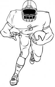 нарисованный футболист