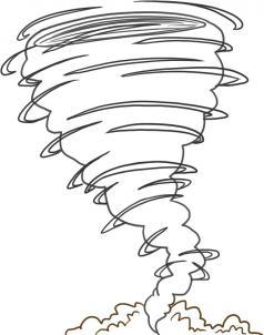нарисованный торнадо