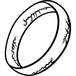 нарисованное кольцо из Властелина колец
