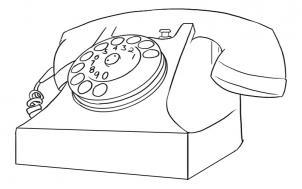 нарисованный телефон