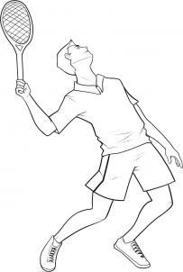 нарисованный теннисист