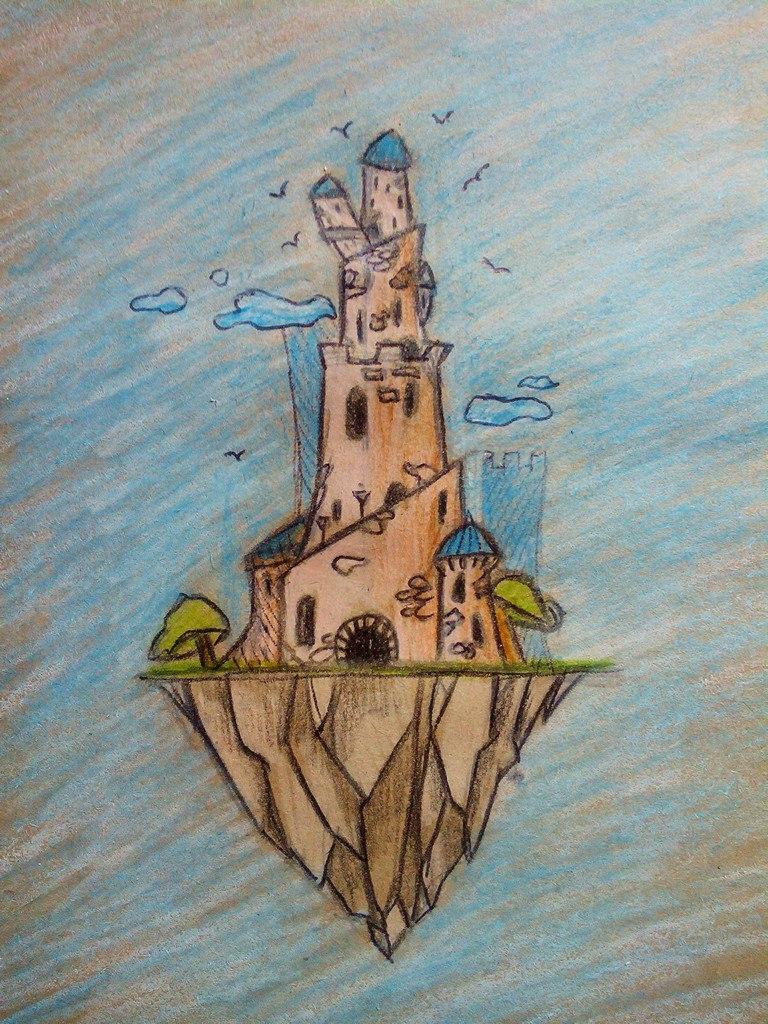 нарисованная башня