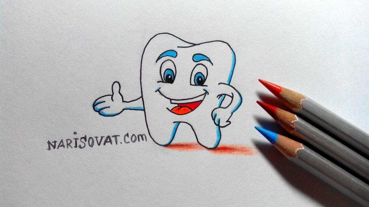 нарисованный зуб картинки