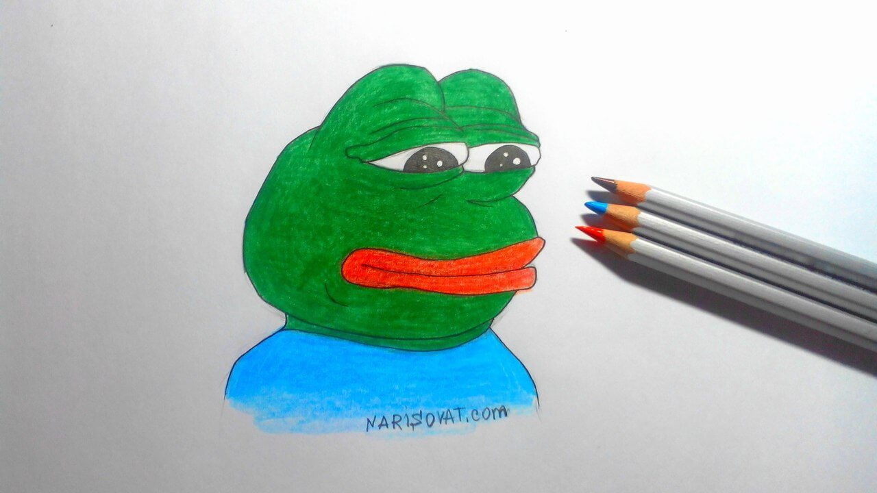 нарисованная лягушка пепе